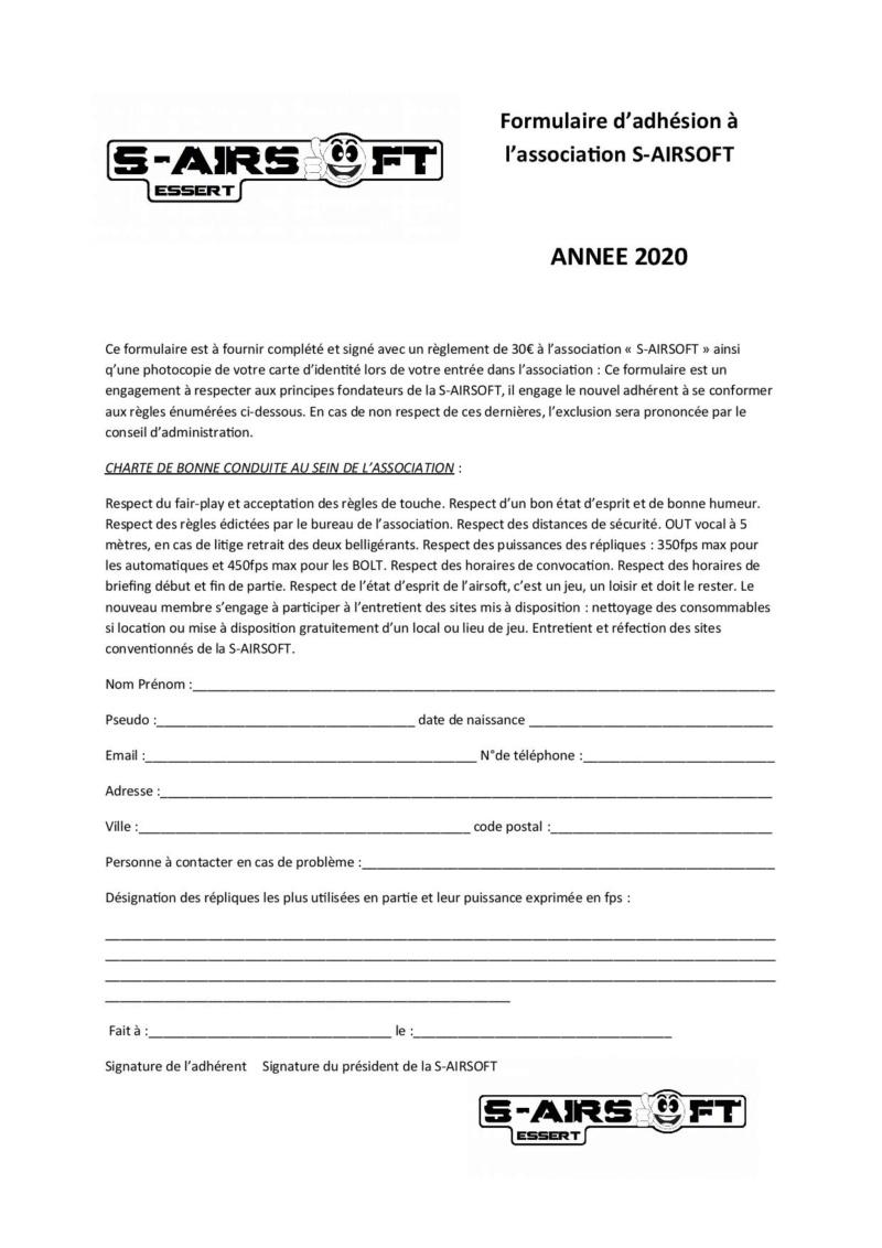 fiche d'inscription 2020 Formul10