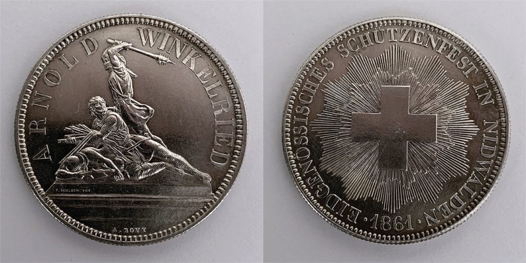5 francos del Festival de tiro Suizo de Nidwalden 1861 0110