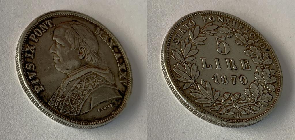 5 Liras Estados Pontificios 1870 0115