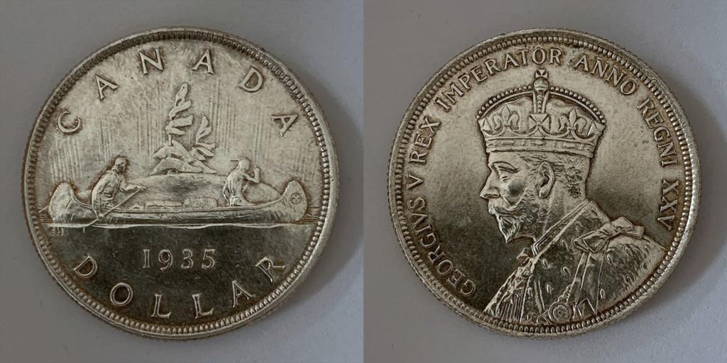 """Voyageur"" Dollar. Canadá 1935 0116"