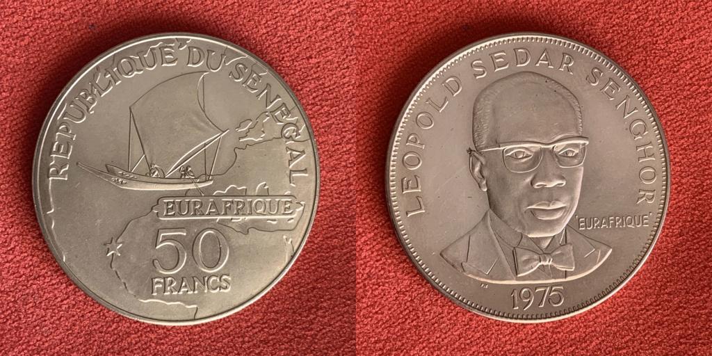 50 francos República del Senegal 1975 0125