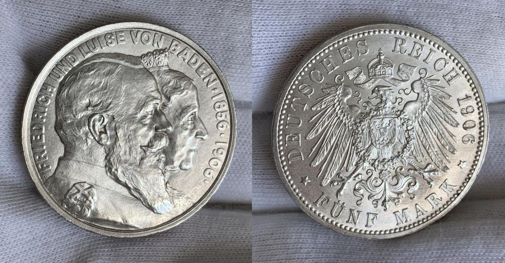 5 marcos imperio alemán 1906 0128