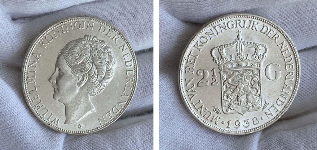 2½ gulden Países Bajos 1938 0129