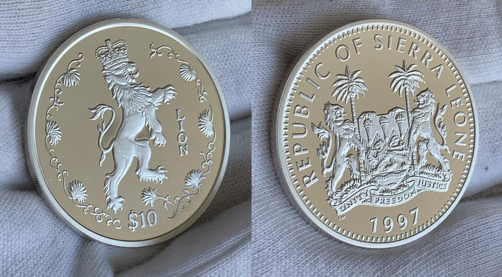 10 dólares Republica de Sierra Leona 1997 0130