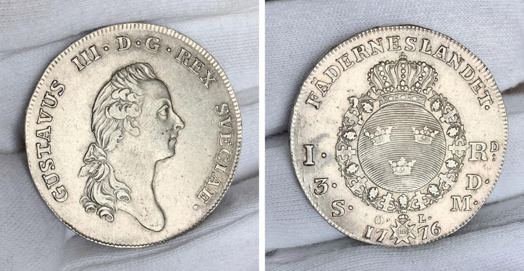 Suecia 1 Riksdáler o 3 Dáler Silvermint 1776 0131