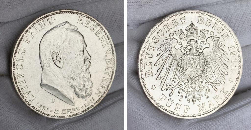 5 marcos  Imperio Alemán 1911 0133