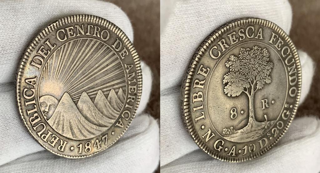 8 Reales Estado de Guatemala 1847 0134