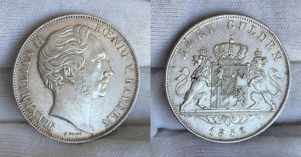 2 Gulden. Reino de Baviera 1852 0138