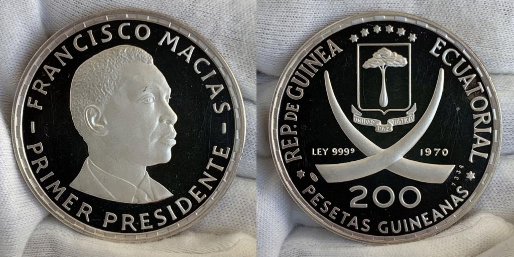 200 pesetas guineanas, República de Guinea Ecuatorial, 1970 0140