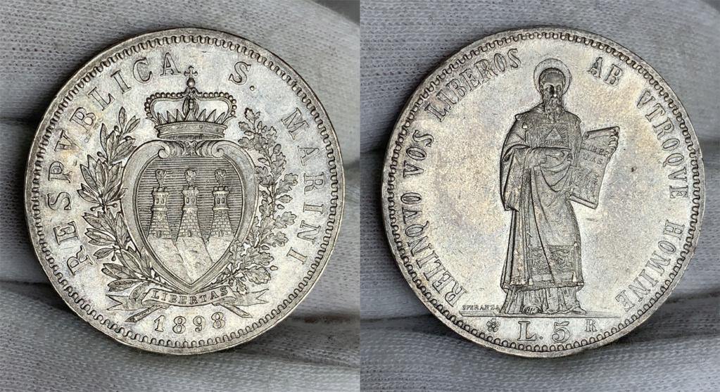 5 Liras San Marino 1898 0146