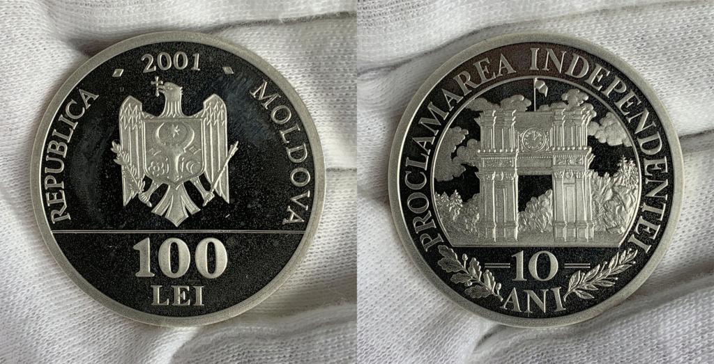 100 Lei República de Moldavia 2001 0148
