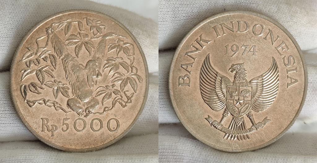 5000 Rupias. Indonesia. 1974 0151