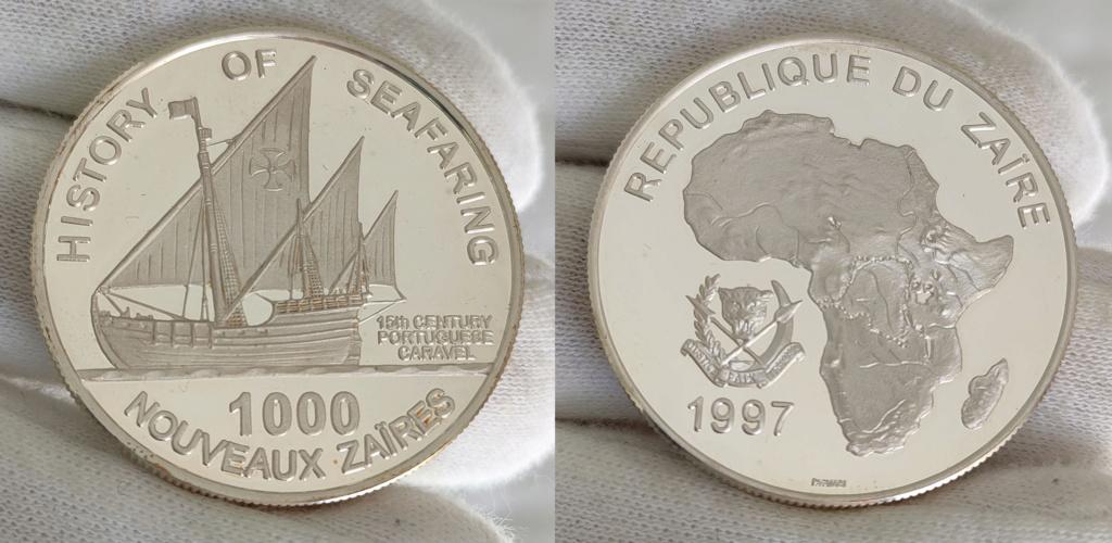 1000 nouveaux zaïres. 1997 República del Zaire 0153