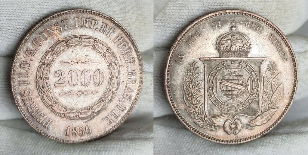 2000 reis. 1856  Brasil.  0154