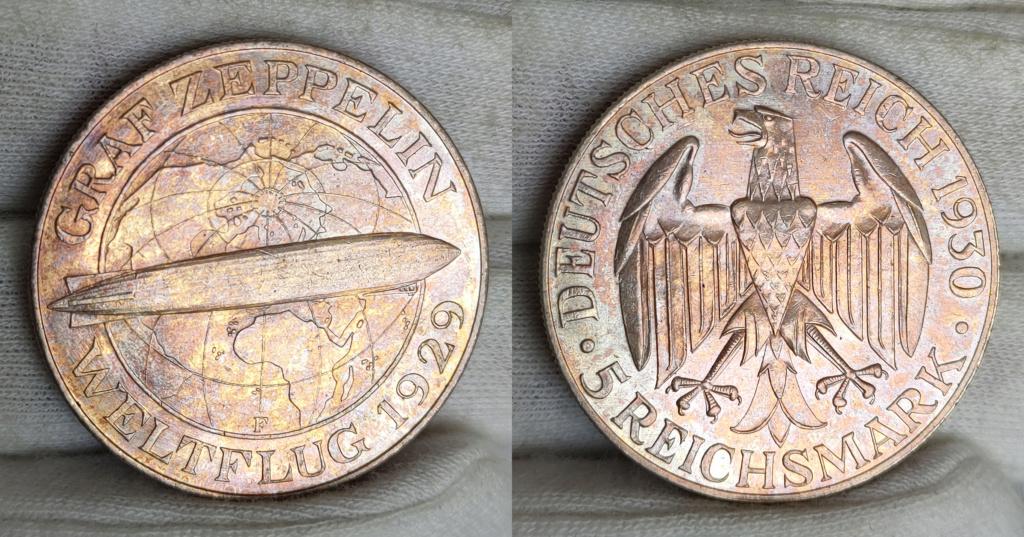 -GRAF ZEPPELIN- 5 marcos 1930 Alemania. 0155