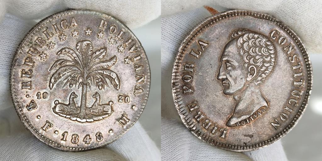 8 soles 1848 Bolivia 0157