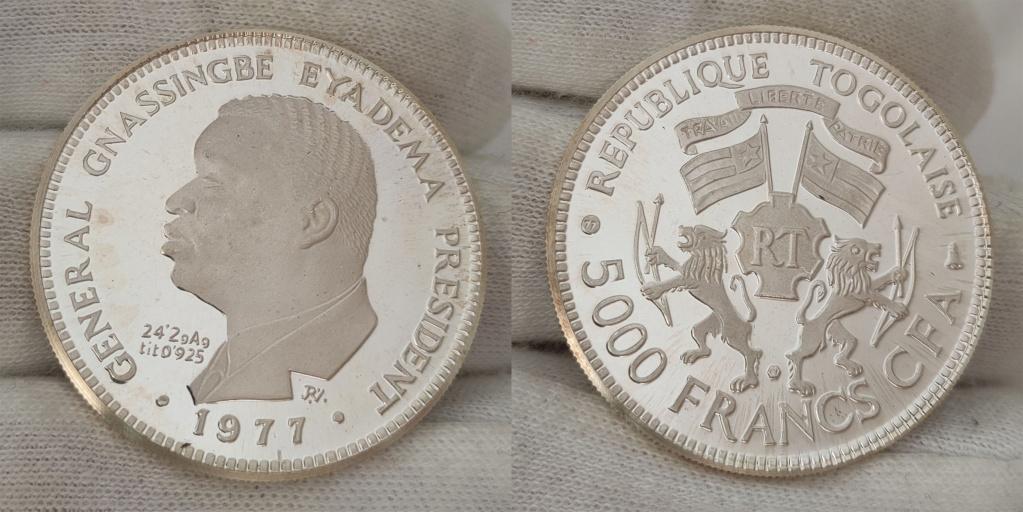 5000 francos cfa. Republica de Togo 1997 0162