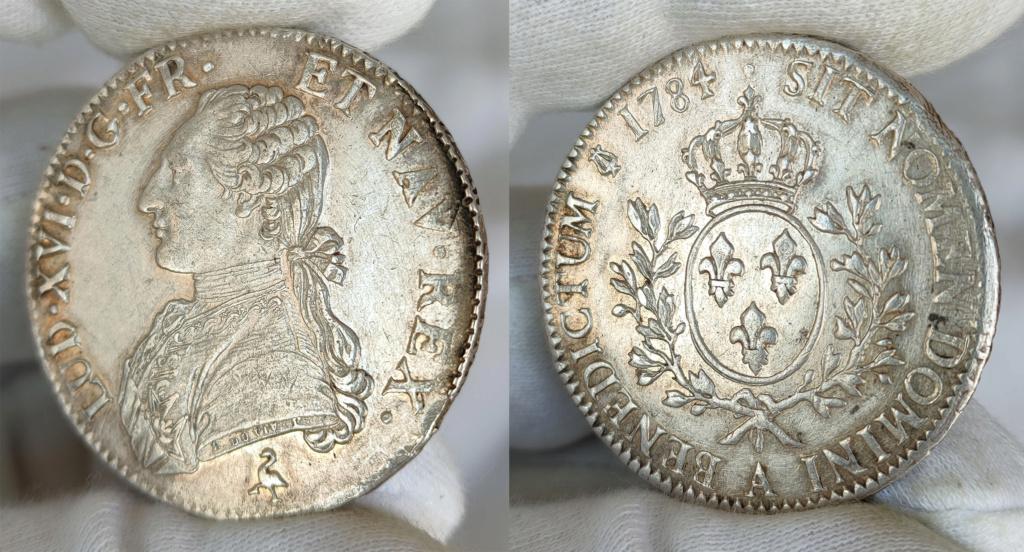 Ecu 1784 Francia Luis XVI 0163