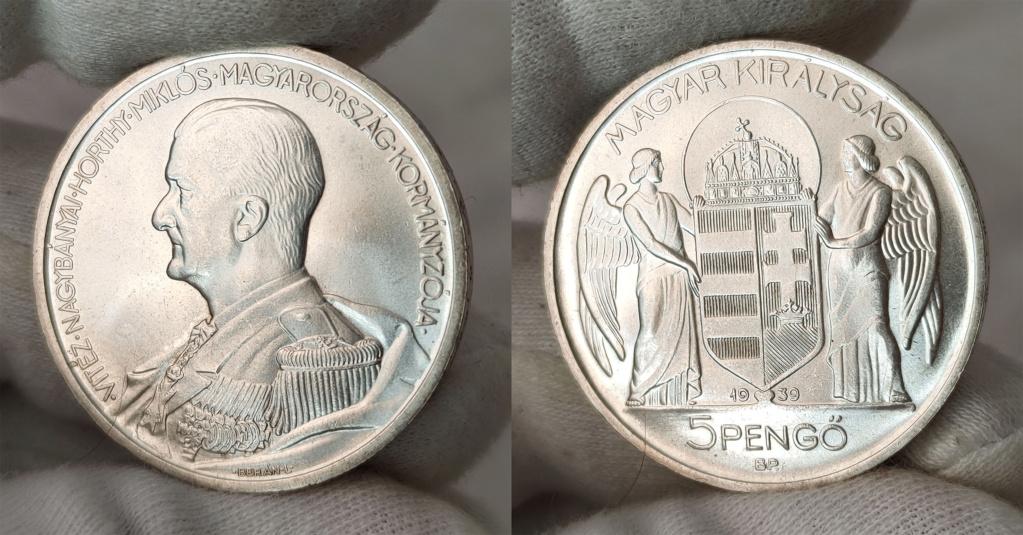 Hungría 5 pengős. 1939 0166