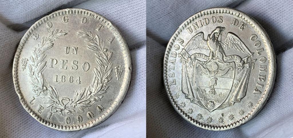 1 peso 1864 Colombia  01_0110