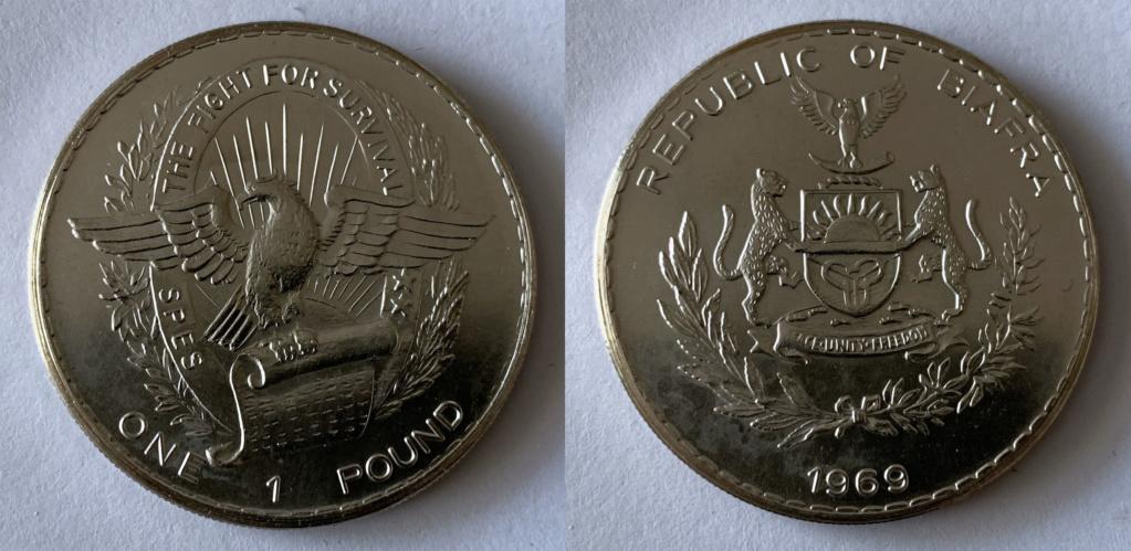 1 pound Biafra 1969 0212