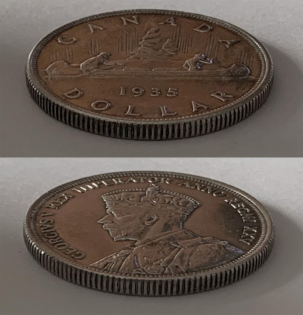 """Voyageur"" Dollar. Canadá 1935 0216"