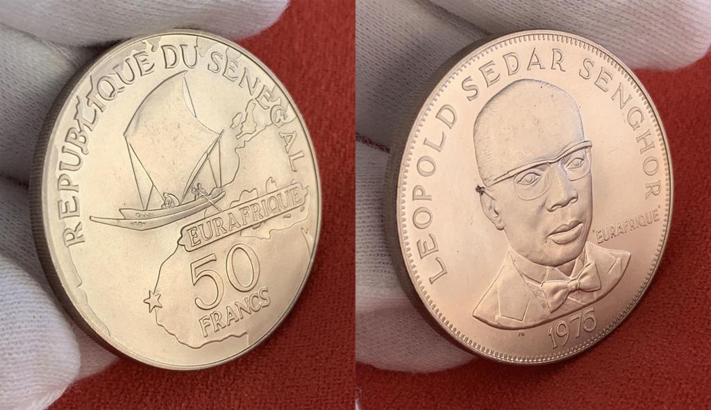 50 francos República del Senegal 1975 0225