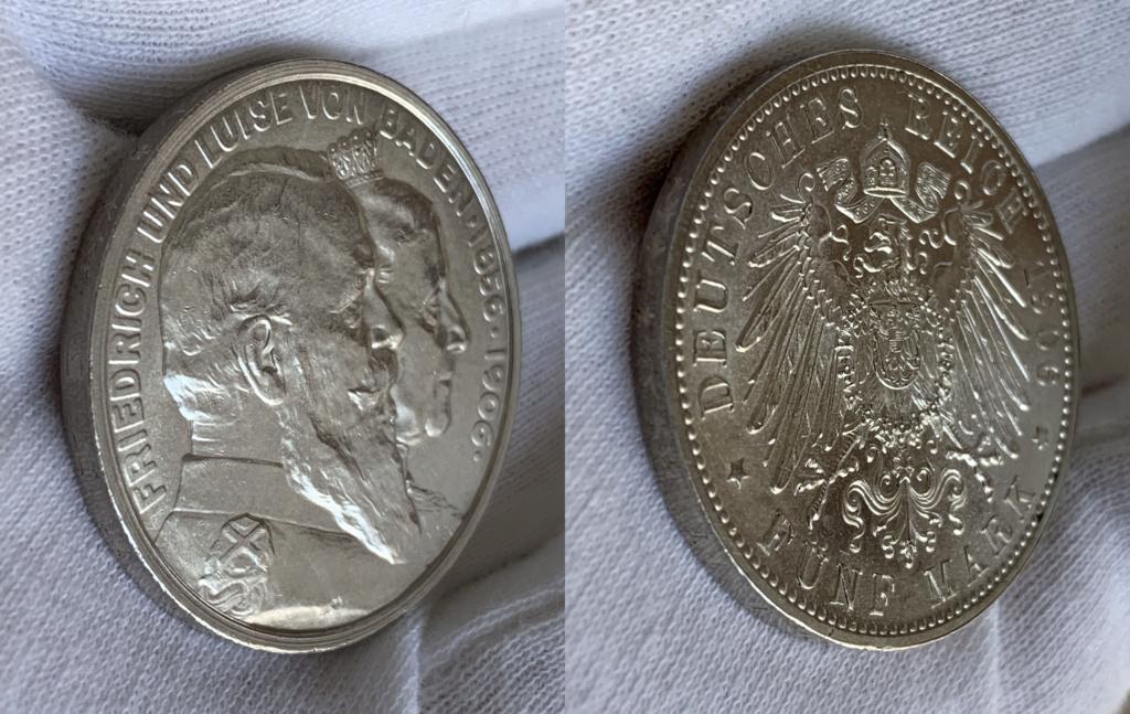 5 marcos imperio alemán 1906 0228