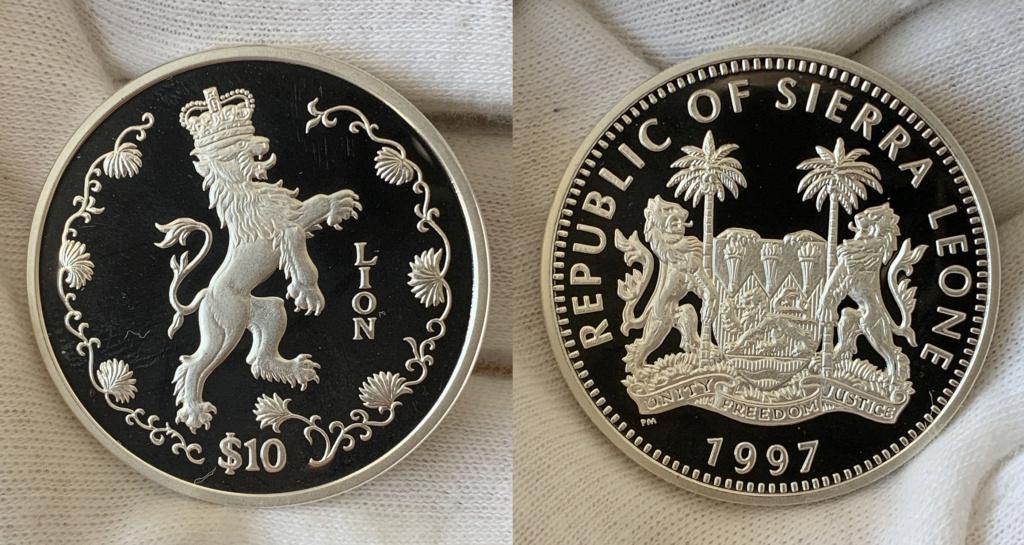 10 dólares Republica de Sierra Leona 1997 0230