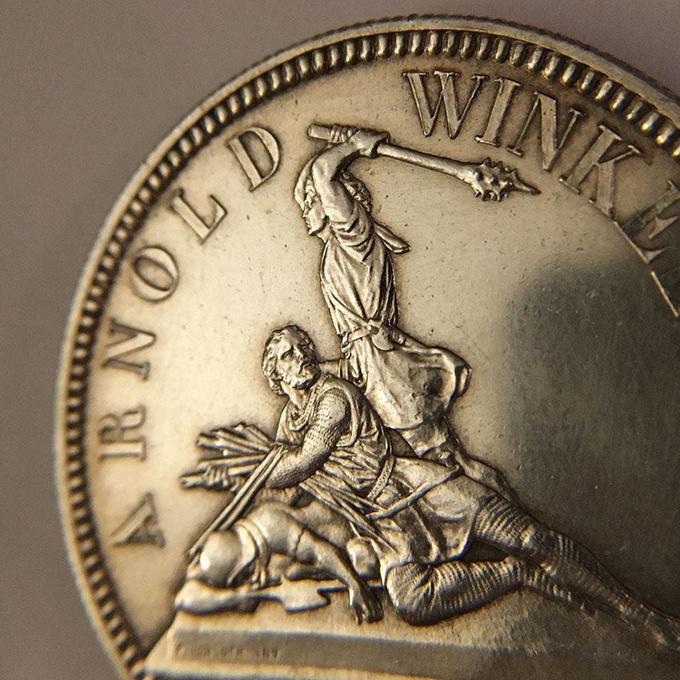 5 francos del Festival de tiro Suizo de Nidwalden 1861 0310