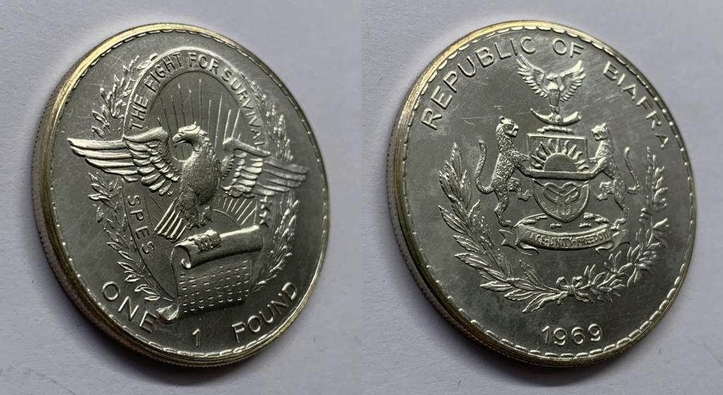1 pound Biafra 1969 0311