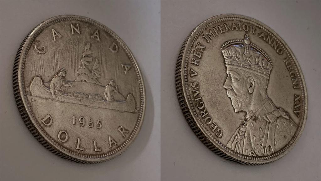 """Voyageur"" Dollar. Canadá 1935 0314"
