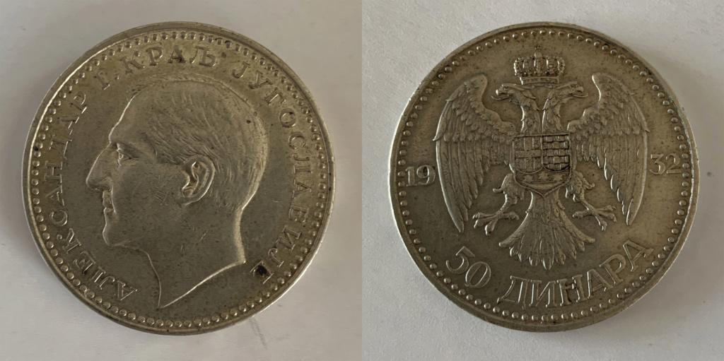 50 dinares 1932 Yugoslavia 0319