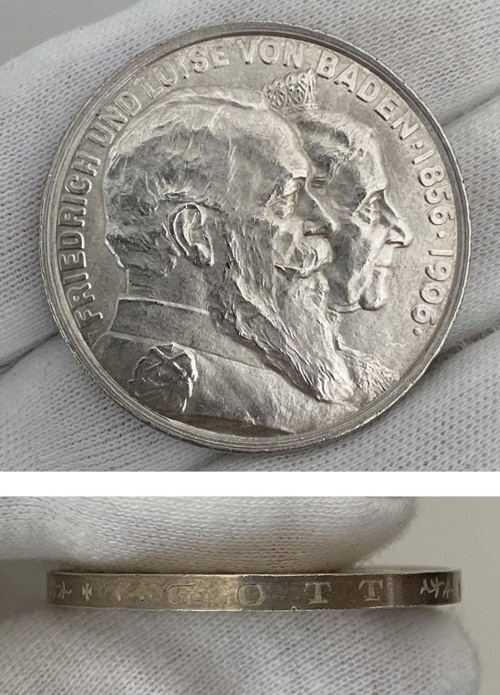 5 marcos imperio alemán 1906 0324