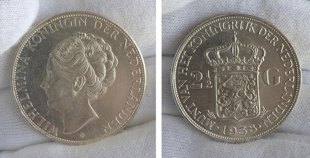 2½ gulden Países Bajos 1938 0325