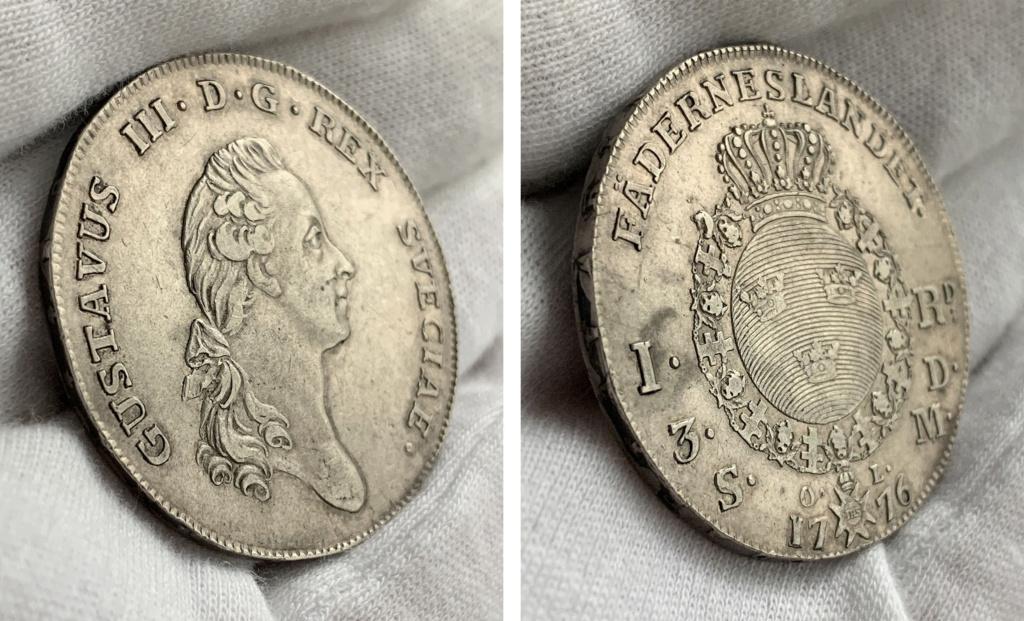 Suecia 1 Riksdáler o 3 Dáler Silvermint 1776 0327