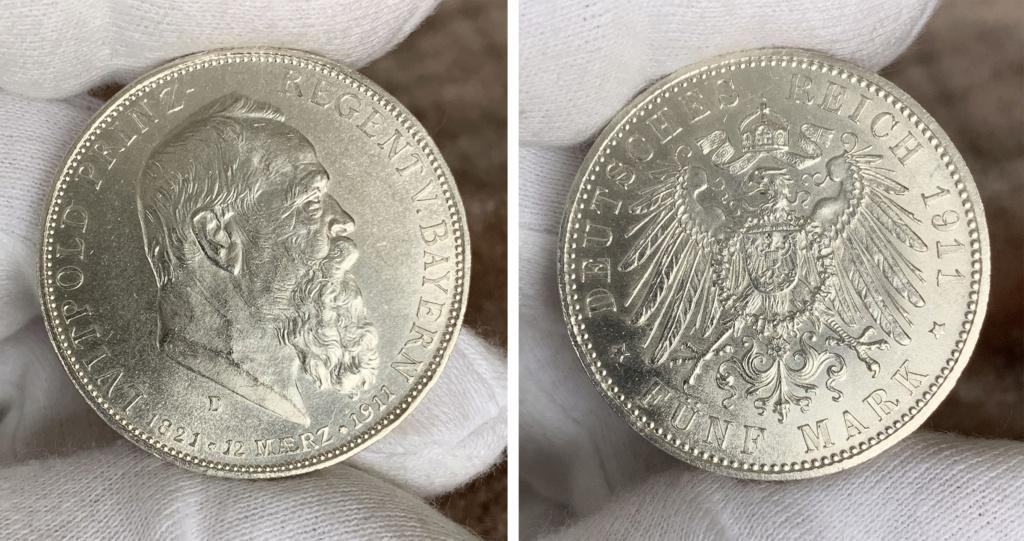 5 marcos  Imperio Alemán 1911 0329