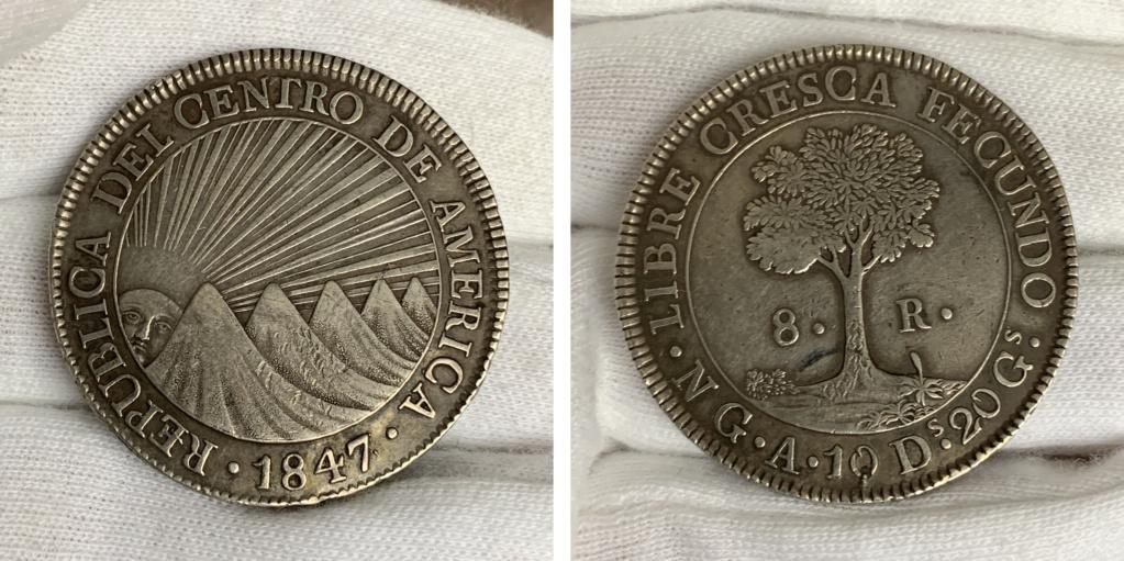 8 Reales Estado de Guatemala 1847 0330