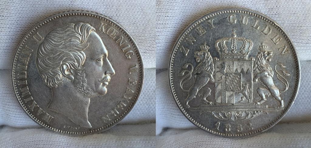 2 Gulden. Reino de Baviera 1852 0333