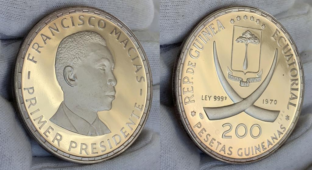 200 pesetas guineanas, República de Guinea Ecuatorial, 1970 0335