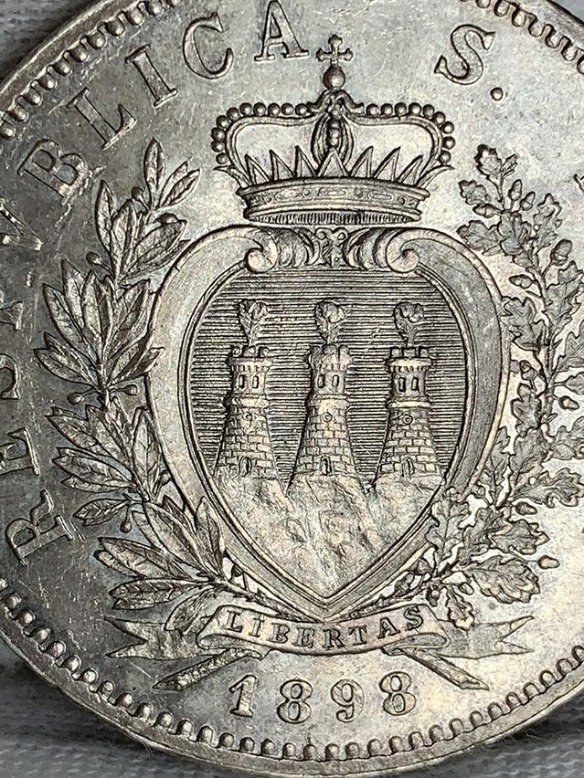 5 Liras San Marino 1898 0340