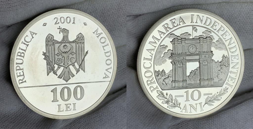 100 Lei República de Moldavia 2001 0342