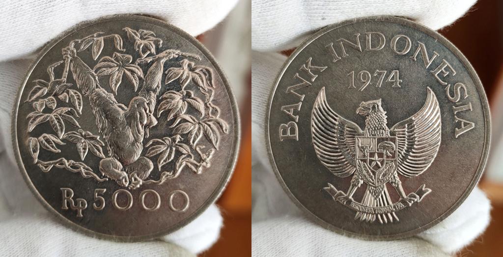 5000 Rupias. Indonesia. 1974 0346