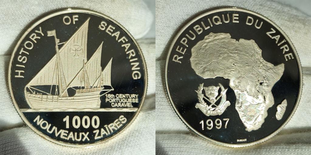 1000 nouveaux zaïres. 1997 República del Zaire 0348