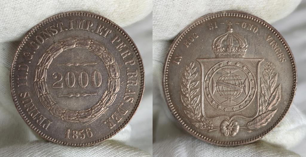 2000 reis. 1856  Brasil.  0349