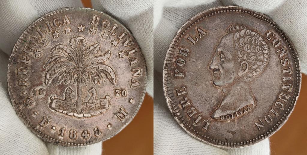 8 soles 1848 Bolivia 0351