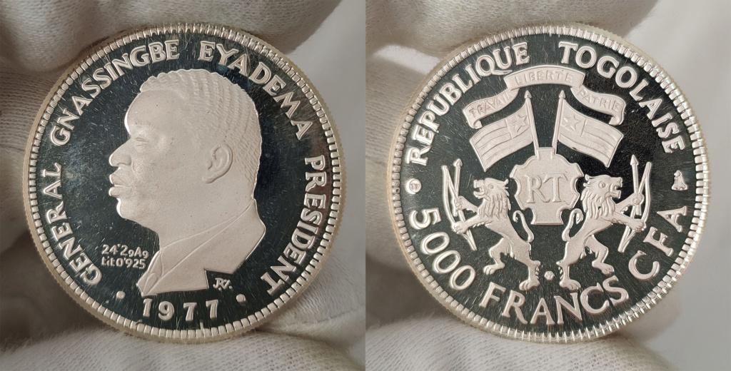 5000 francos cfa. Republica de Togo 1997 0356