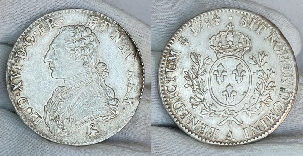 Ecu 1784 Francia Luis XVI 0357