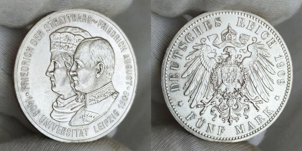 5 marcos. Imperio Alemán 1909 0358