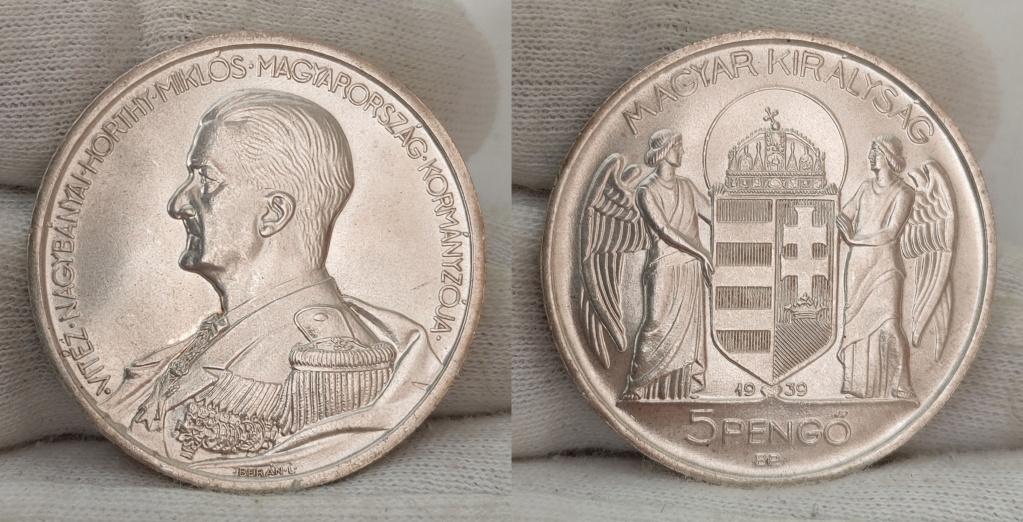 Hungría 5 pengős. 1939 0360